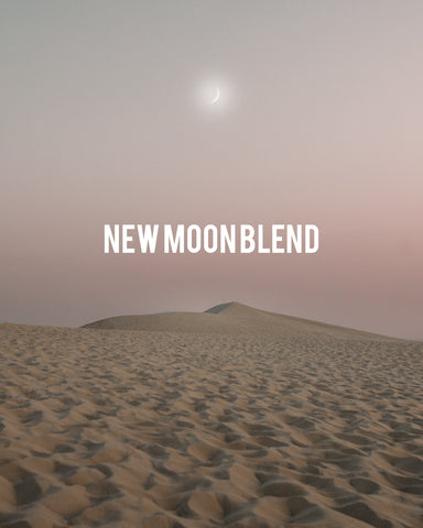 A young moon in the desert sky