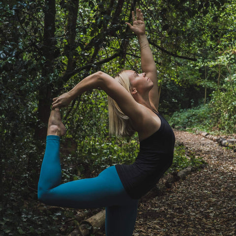 Alice Trow practicing yoga in nature