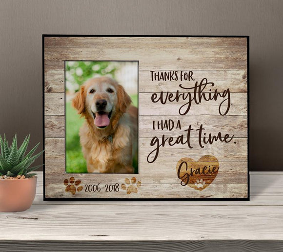 Shopcoolpod Dog Memorial Frame Dog Memorial Gift Dog Loss Gift Pet