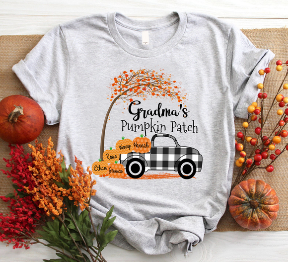 Grandma'S Pumpkin Patch Halloween Autumn