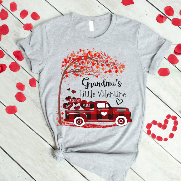 Grandma's little valentine with grandkids