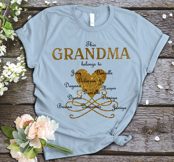 This Grandma Belong To With Grandkids