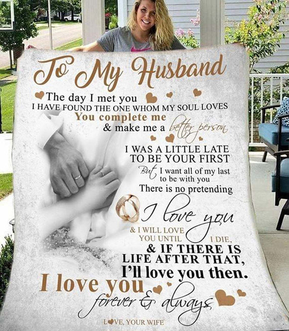 Letter To My Husband, Couple Love Gift, Idea Valentine Gift For Husband, Husband Birthday Gift, Wedding, Honey Moon Blanket