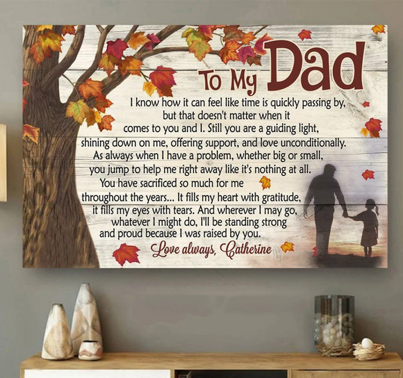 Customize To My Dad I Was Raised By You Poster For Dads