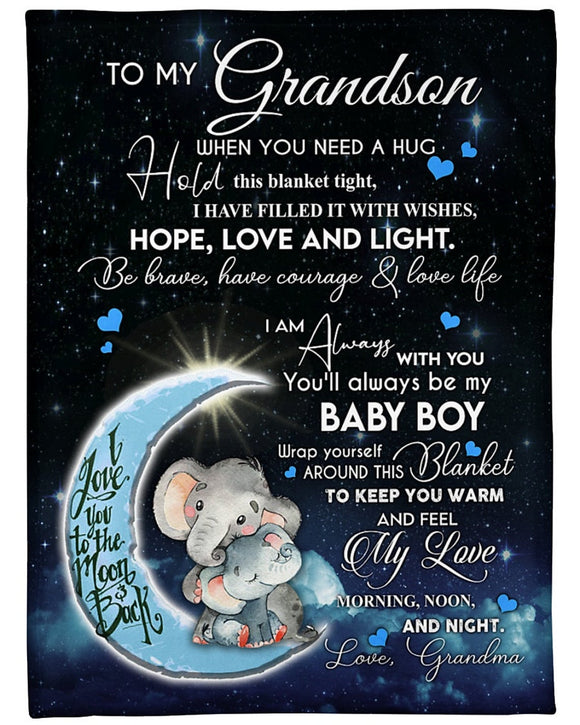 To My Grandson I Love You To The Moon And Back From Grandma