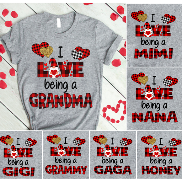I Love being a grandma Gnomie valentine