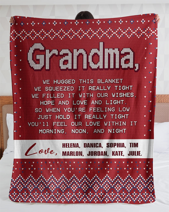 Grandma We Hugged This Blanket Christmas