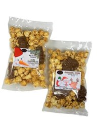 Caramel Corn With Chocolate Snow Man or Santa (Sold Seperate)