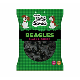 Gustafs Dutch Black Licorice Beagles 150g