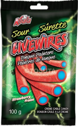 Livewires Sour Strawberry 100g