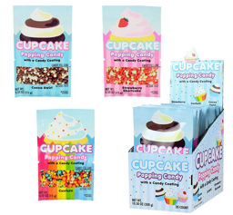 Cupcake Coated Popping Candy