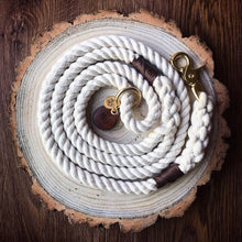 Load image into Gallery viewer, Classic - luxury personalised 100% cotton rope lead/leash