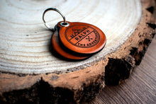 Load image into Gallery viewer, Adventure themed - saddle tan leather - double personalised dog tag