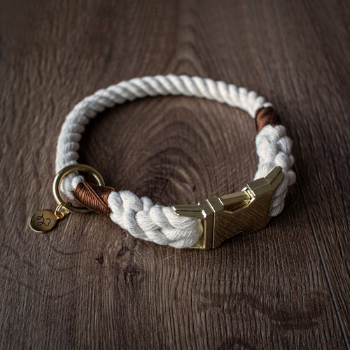 Classic - Luxury 100% cotton rope collar with treat bag and charm