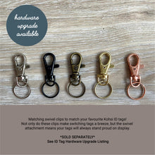 Load image into Gallery viewer, Miniature sweet as can be - saddle tan leather - double personalised dog tag