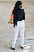 Load image into Gallery viewer, Pantalon en coton brodé Adama Paris