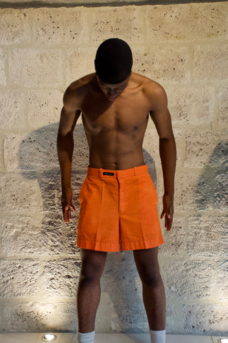 Short droit orange Cute-Saint