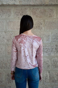 Pinky top - Top en velour - Adama Paris