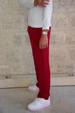 Charger l'image dans la galerie, Pantalon large rouge bordeaux Adama Paris