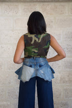 Load image into Gallery viewer, Gilet en jean militaire Adama Paris