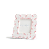 Scalloped Floral Picture Frame