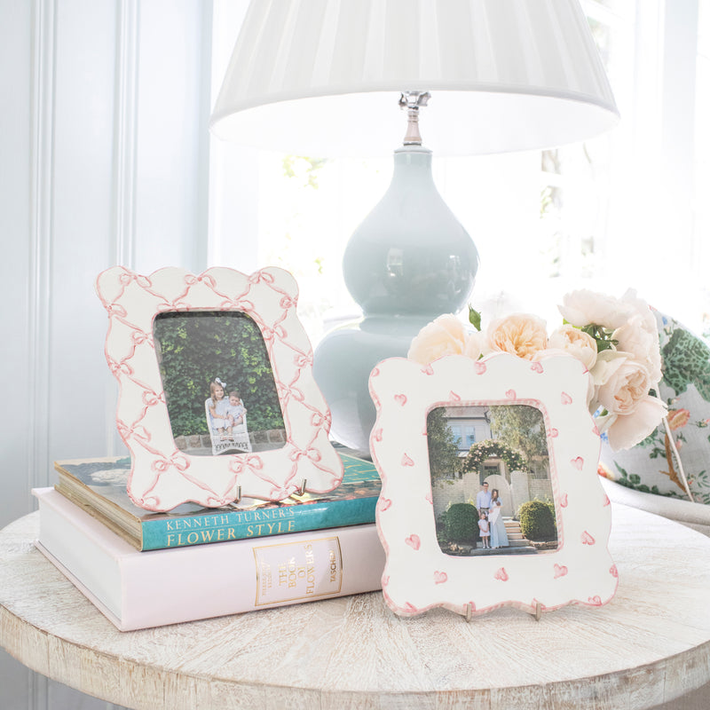 Scalloped Bow Picture Frame