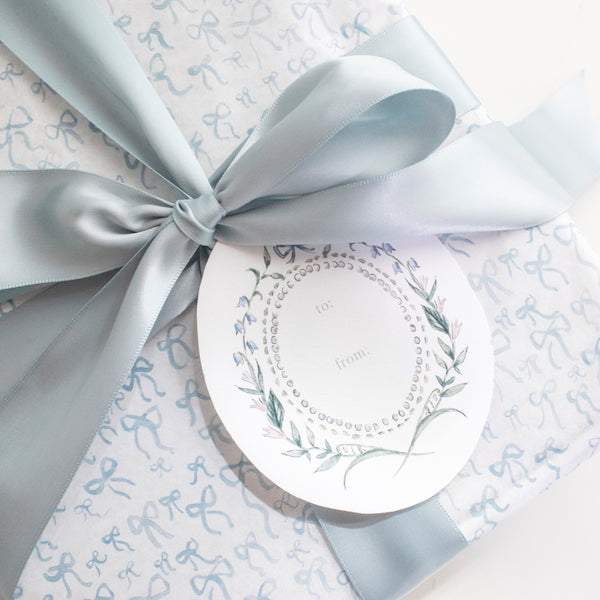 Bow Crest Gift Tag Set