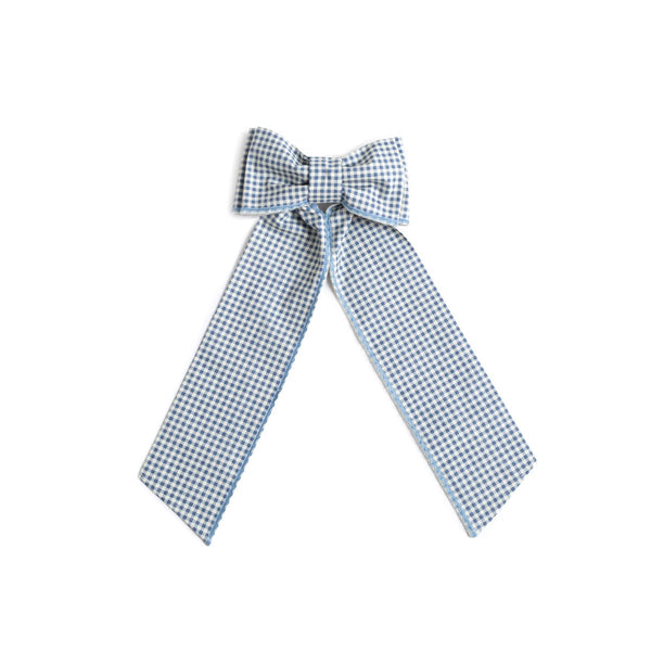 Elle Bow - Navy Gingham