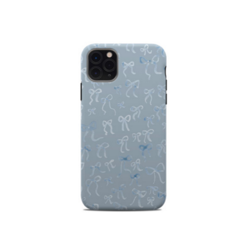 All Over Bow Phone Case - Blue