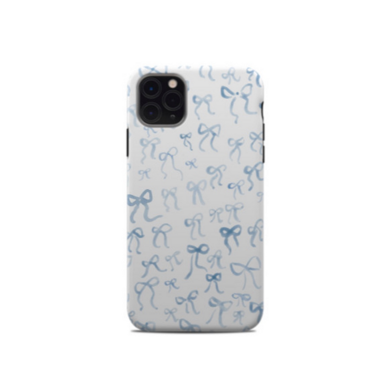 All Over Bow Phone Case - White