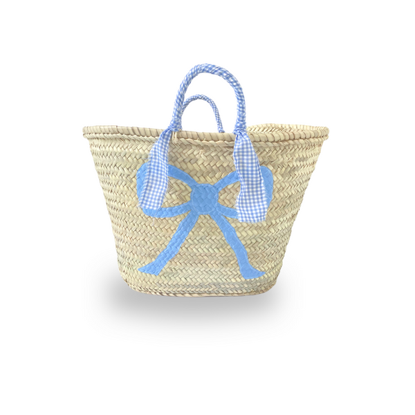 Bow Basket - Gingham