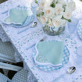 Rose Trellis Scalloped Napkins