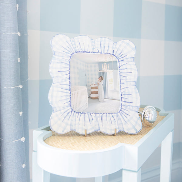 Scalloped Gingham Picture Frame