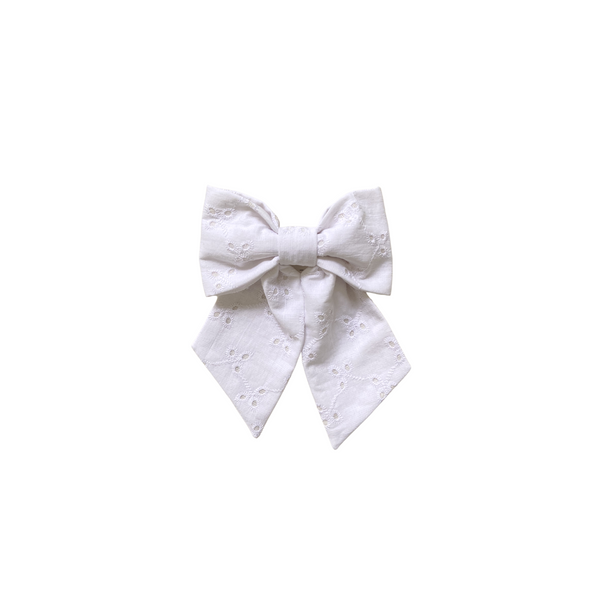 Molly Bow - White Eyelet