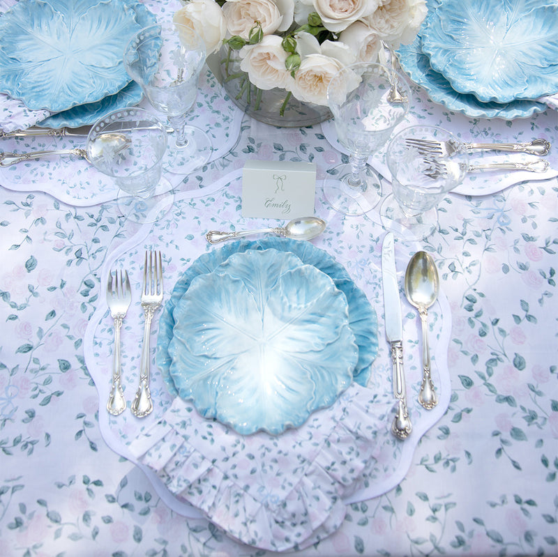 Rose Trellis Round Scalloped Placemat