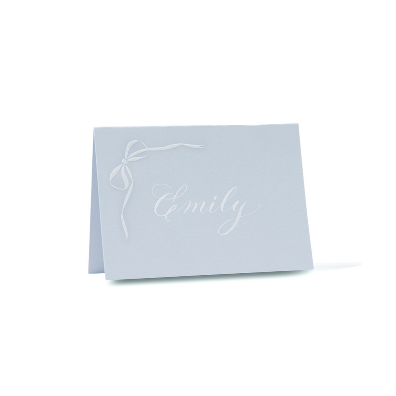Engraved Bow Place Card Set