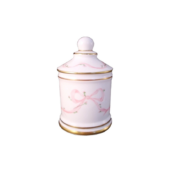Porcelain Bow Cotton Bud Jar