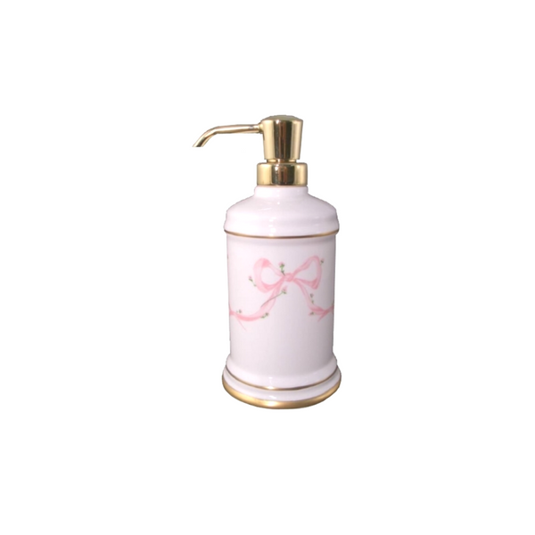 Porcelain Bow Lotion Bottle