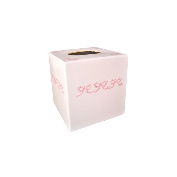 Porcelain Bow Tissue Box Cover