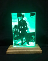 Photo Engraving of WW II paper picture of soldier