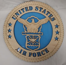 Load image into Gallery viewer, US Air Force Eagle Military Wall Plaque