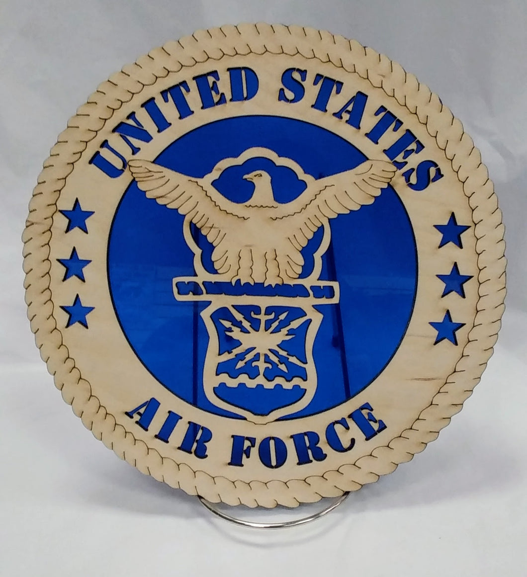 US Air Force Eagle Military Wall Plaque