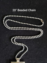 Load image into Gallery viewer, Silver or Beaded Chain