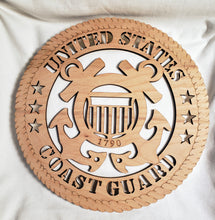 Load image into Gallery viewer, US Coast Guard Military Wall Plaque