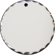 Circle Pendant w/Scalloped Edge - Large