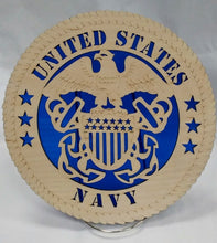Load image into Gallery viewer, US Navy Military Wall Plaque