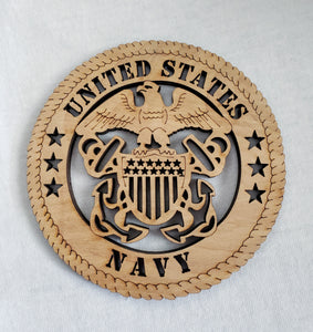 US Navy Military Wall Plaque