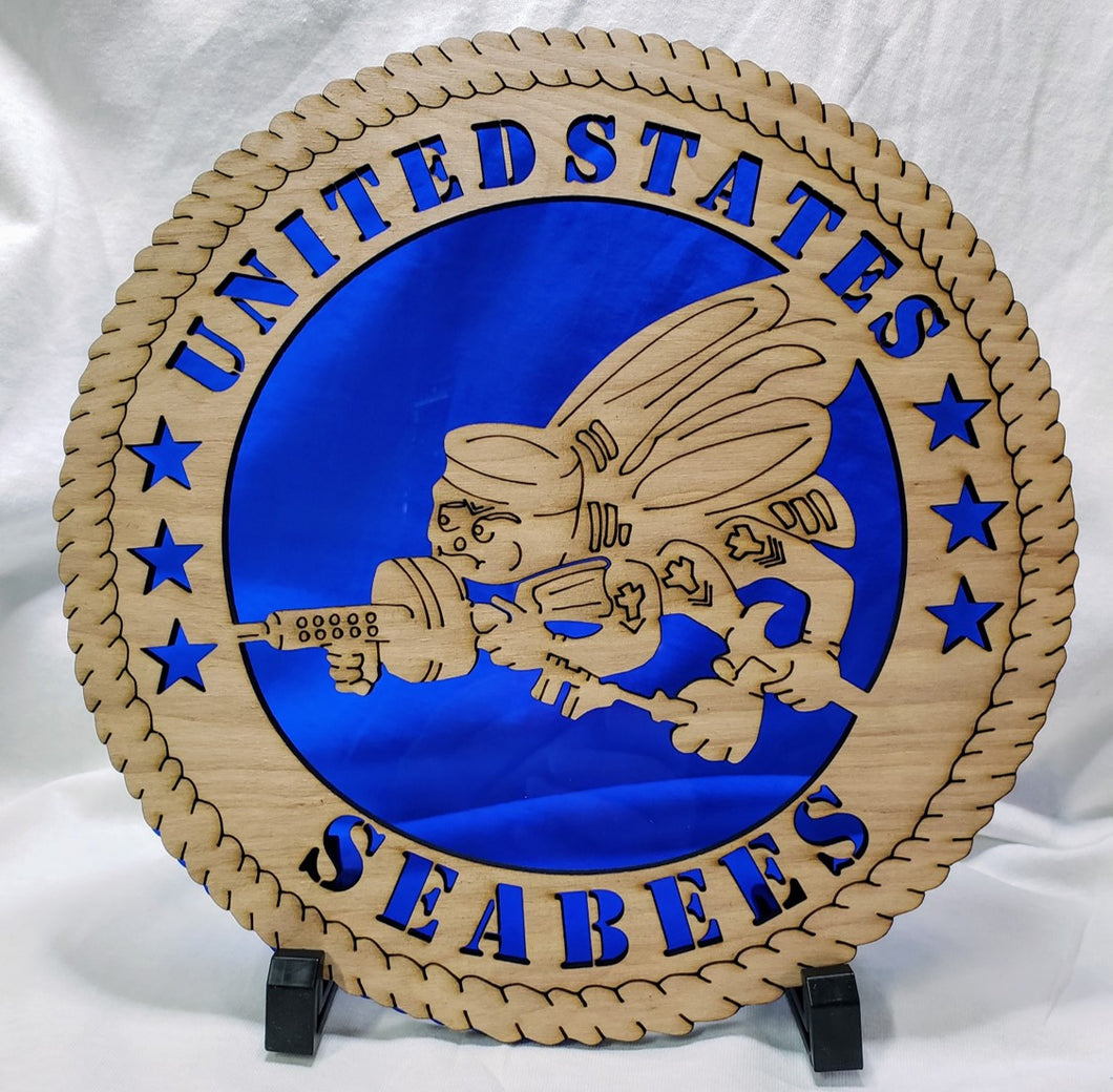 Seabees Military Wall Plaque