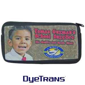 "DyeTrans Sublimation Blank Neoprene Cosmetic Bag - 3.875"" x 8"" w/Zipper"
