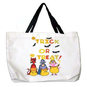 "DyeTrans Sublimation Blank Poly Duck Tote Bag - 17"" x 22"" - White w/Black Handle"